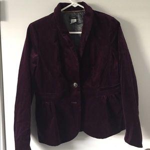 J. Crew Purple Velvet Blazer Size 8